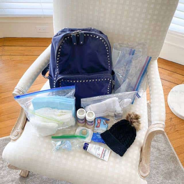 diaper bag checklist backpack with baby supplies