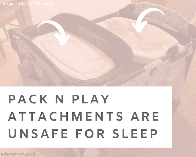 pack n play attachments are unsafe for sleep delete from your registry what to register for instead