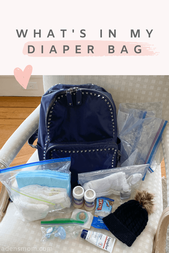 whats in my diaper bag backpack