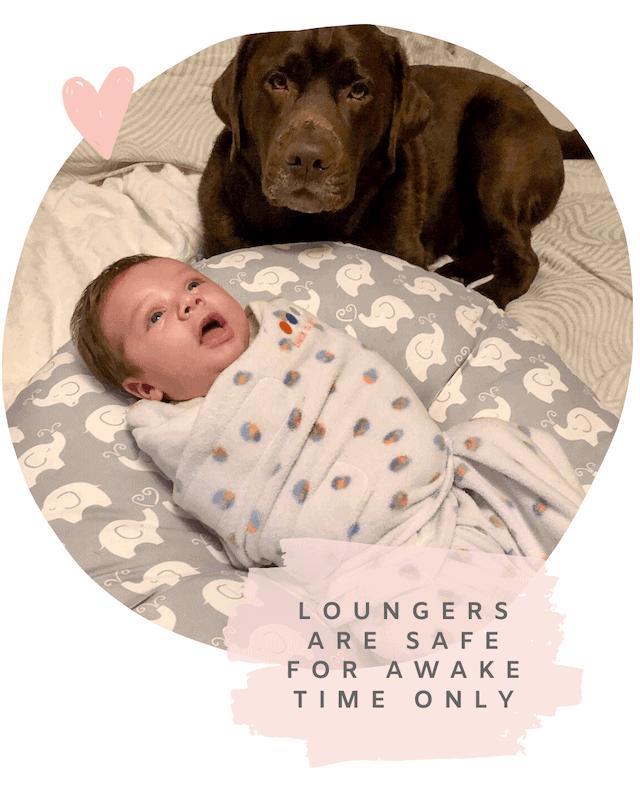 newborn awake in boppy lounger not safe for sleep
