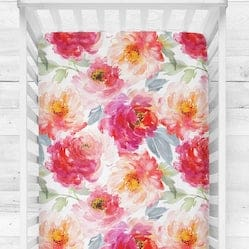 watercolor flowers crib sheets etsy
